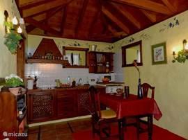 Casa Los Pajeros, keuken.