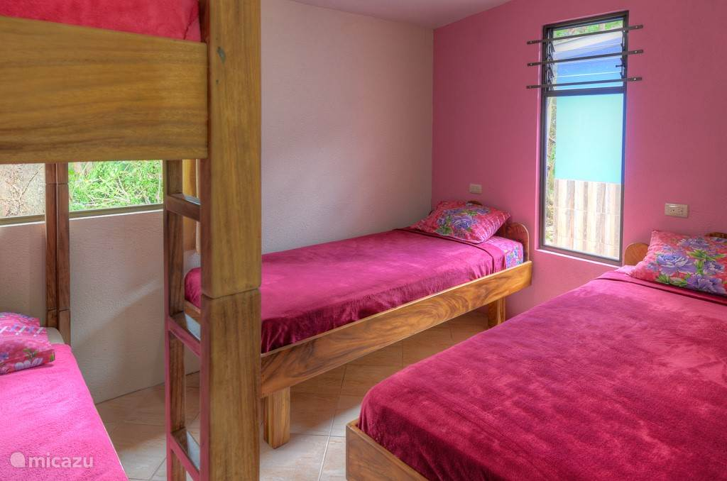 Pink cabin, extra sleeping area.