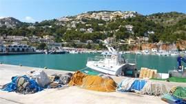 De vissershaven van Javea, Elke avond komen de boten verse vis aan land brengen, deze vis kunt u ter plekke kopen.