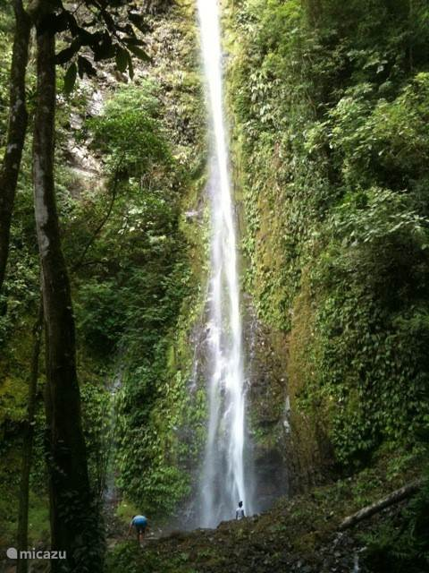 one of two waterfalls in Ojochal, where Puma Tropicale is located
