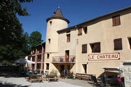 De eerste aanblik van het Château bij aankomst.