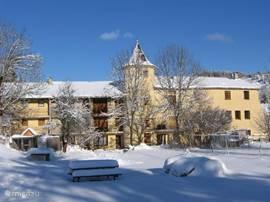 Ook in de winter is het schitterend om hier te verblijven. Camurac heeft ook een eigen skistation.