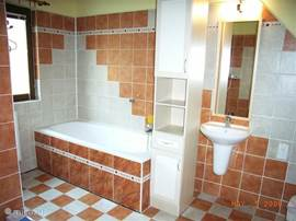 There are two dbadkamers. With a bath and shower and one with shower and toilet.
