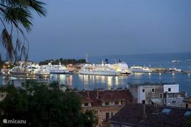 Beautiful view over the port of Split.
