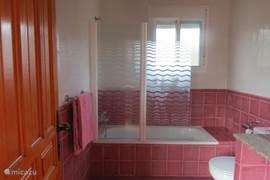 De badkamer boven met ligbad en tweede toilet.