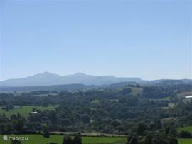 The massif of Sancy in the summer