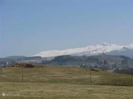 The massif of Sancy in winter