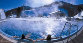 The thermal baths in Bad Kleinkirchheim, views and located on the slopes. Great relaxation.