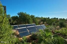 Solar park aangelegd in naastgelegen tuin
