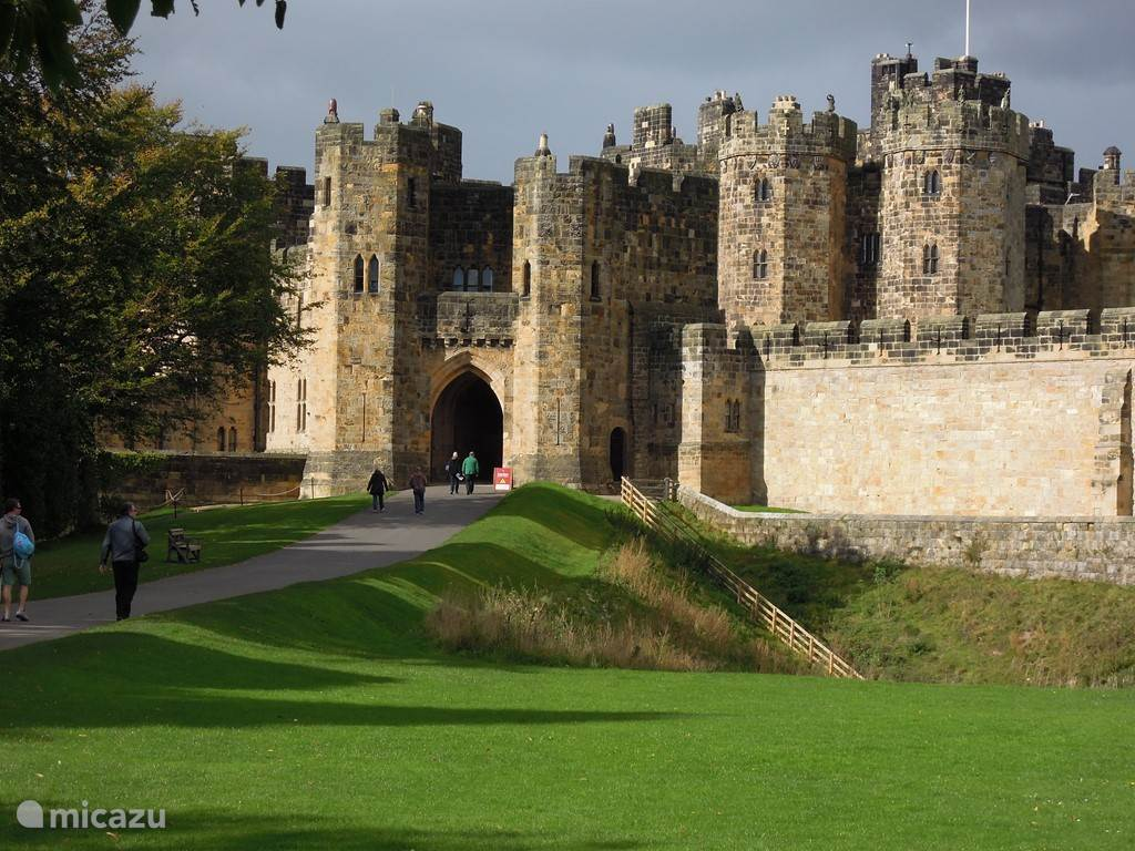 Alnwick Castle, north of Newcastle (shooting for Harry Potter and Downton Abbey [Brancaster Castle, the new home of Lady Edith]). A great fun day out.