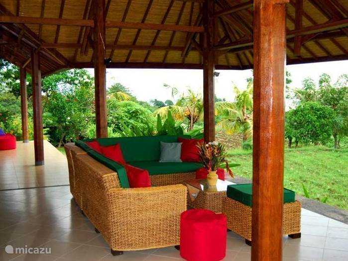 Lounge seating area on the veranda where you can enjoy the views and the oasis of peace and quiet.