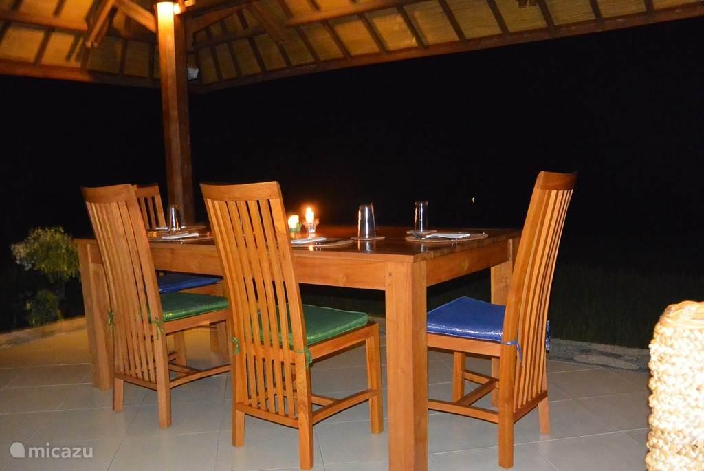 Romantisch dineren in de villa