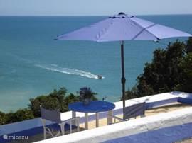 Uitzicht vanaf het terras van Casa Azul