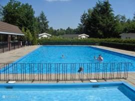 Het verwarmde zwembad (28 graden). Heerlijke temperatuur voor een heerlijke duik in de ochtend (april tot september).