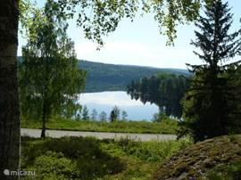 magnifiek uitzicht op Askesjön