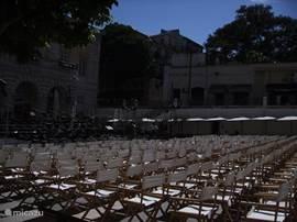 openlucht concert in Lissabon