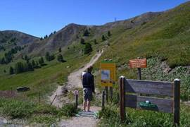 Walking from Col d'Allos to our house