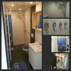 De vernieuwde badkamer