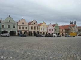 Telc nearby city on the UNESCO list of world heritage.