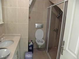 kleine badkamer met douche