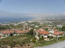 prachtig uitzicht van zee en Alanya