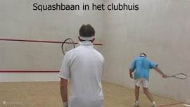 Squash Courts in the clubhouse.