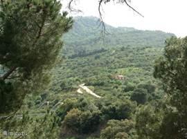 prachtig uitzicht over het natuurpark de madonie.