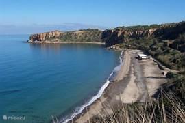 Het strand bij Valtur