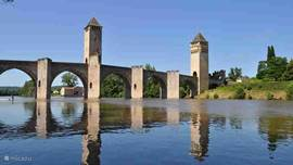 Cahors, the capital of the department of Lot; pont Valentré, the symbol of the city