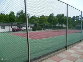 Op het park is o.a. een tennisbaan. Bij de Plaza kunt u rackets in bruikleen krijgen.