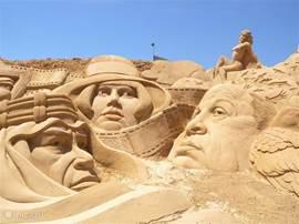 Uitje naar de zandsculpturen