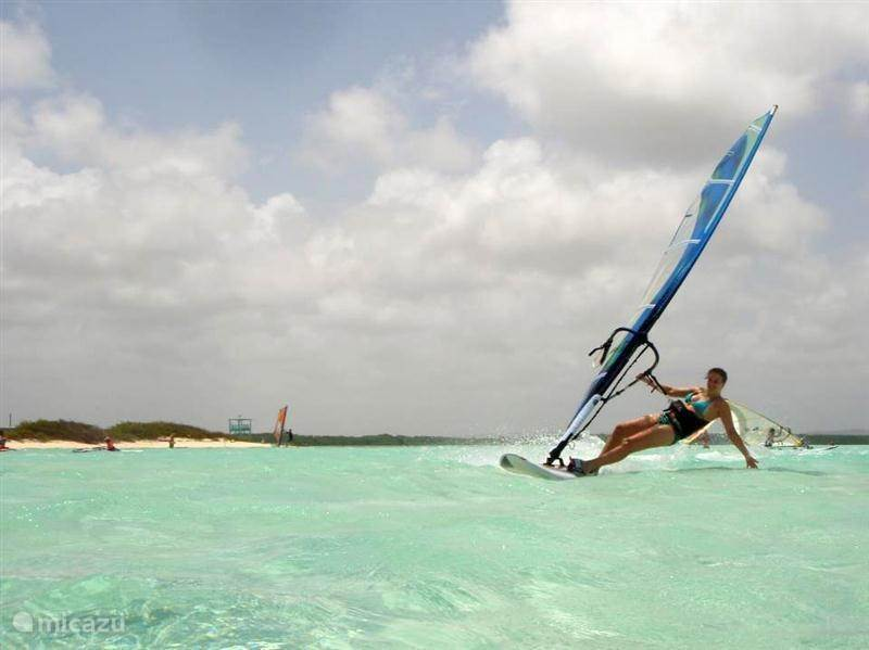 Windsurfing at Lac Bay