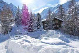Sneeuwzeker in de winter met heerlijk weer, ook voor degene die niet wil skiën....