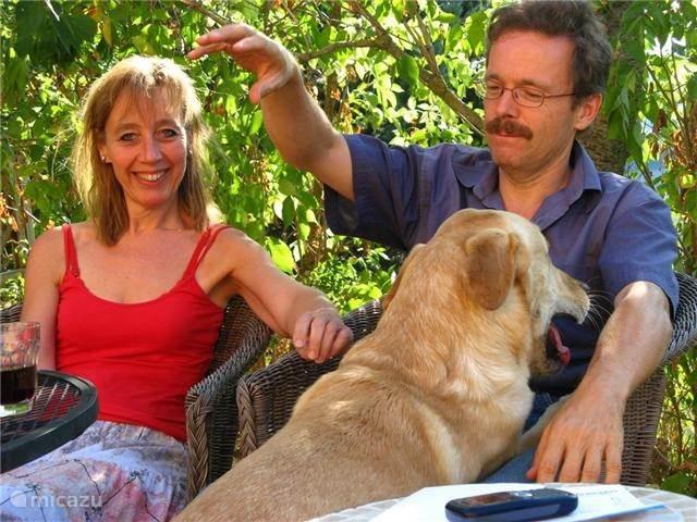 de familie Smit, Rolf ,Inge en Duca