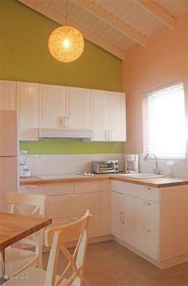 Kitchen apartment # 2 with 2 seater dining (appt. # 3 and # 4 are identical).