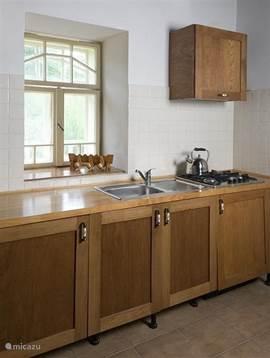Prachtig uitzicht tijdens het koken en de afwas.