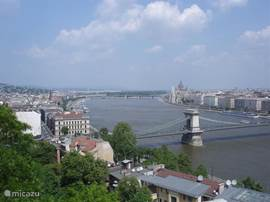 View at the Danube with the Chain Bridge.
