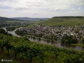 View Bernkastel Kues and the Moselle
