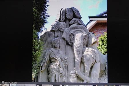 Zandsculpturen in Garderen.