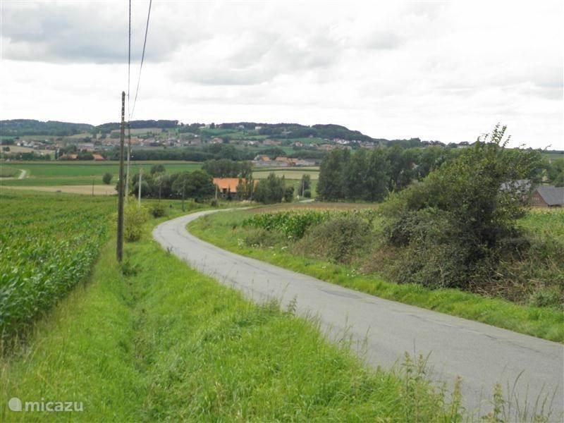 mooie wandelroute en fietsroute in heuvelland.