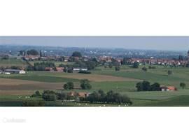 panoramisch zicht op heuvelland