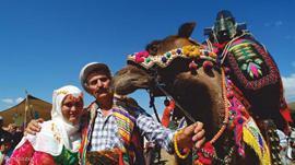 Turken met hun kameel