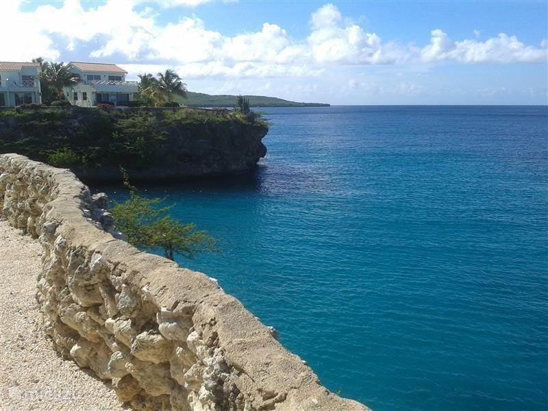 View of the resort along the coastline of Curacao eastward.