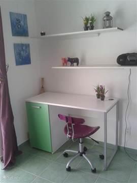 Desk suitable place. For laptop
