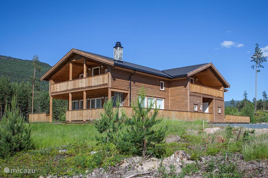 Vakantiehuis Noorwegen, Telemark, Vradal Vakantiehuis Lakehouse-Meerzicht, Noorwegen
