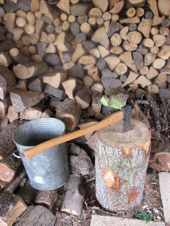 Eerst even hout hakken