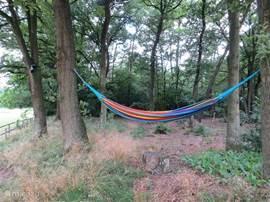 Lekker ontspannen een boekje lezen in de kleurige hangmat of gewoon genieten van het prachtige uitzicht, het kan bij De Höw!