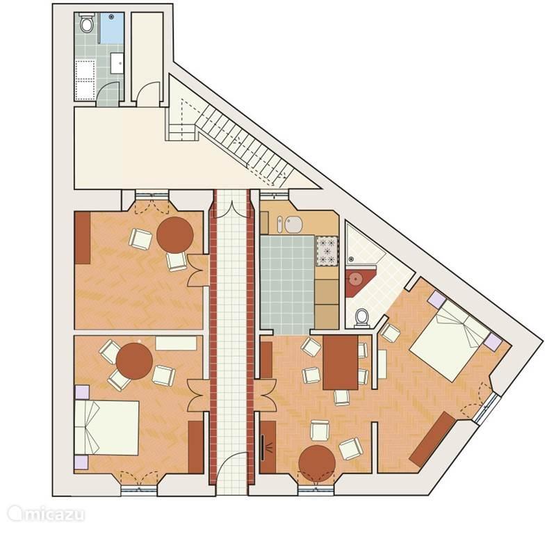 De plattegrond van het huis.