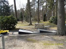 Er is op het park een leuke midgetgolfbaan
