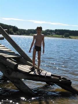 de zeeroversklim in het Lac du Devesset